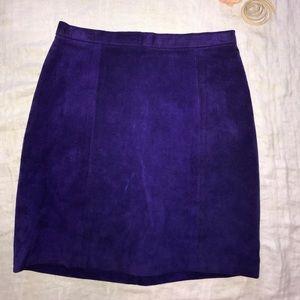 Purple Suede Mini Skirt